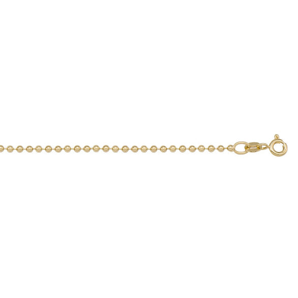BEAD LINK CHAIN NECKLACE - 14K YELLOW