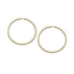 SLEEPER / HUGGIE HOOP EARRINGS - MEDIUM - 10k or 14k YELLOW GOLD