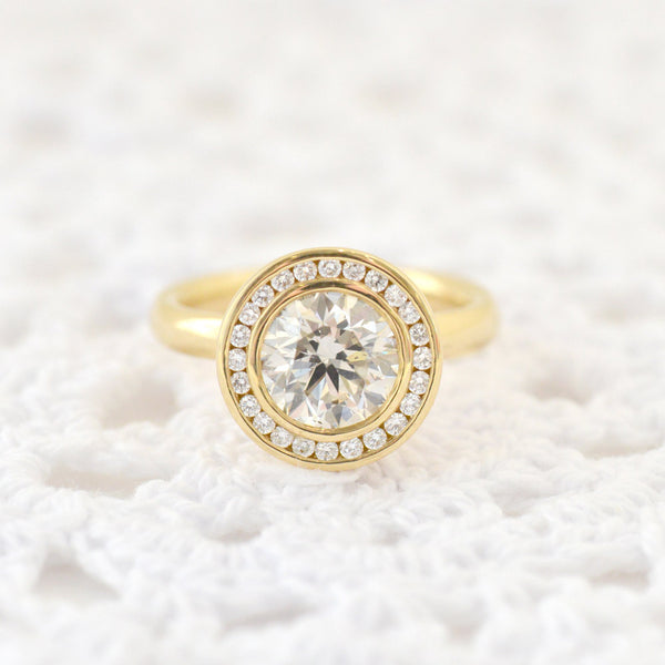 One of a Kind Champagne Diamond Ring - Anne Sportun Fine Jewellery