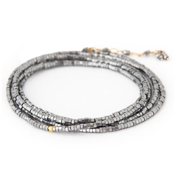 *Limited Edition* Silver Pyrite Gemstone Bracelet - Necklace