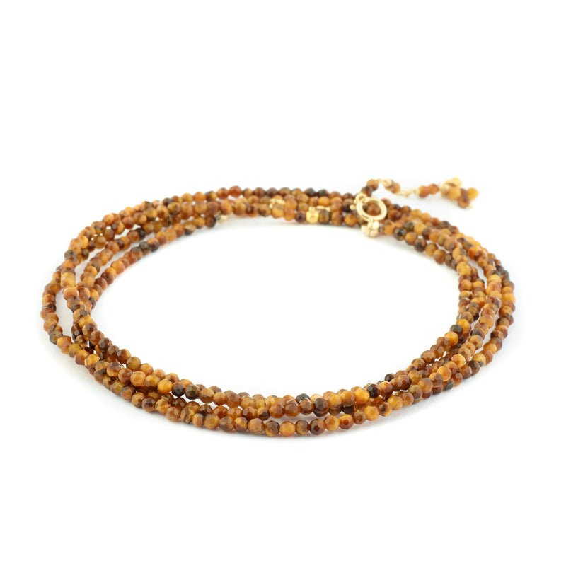 *Limited Edition* Tiger's Eye Gemstone Bracelet - Necklace