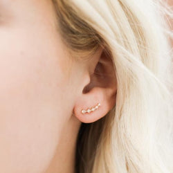 Crawler Earrings - Champagne CZ