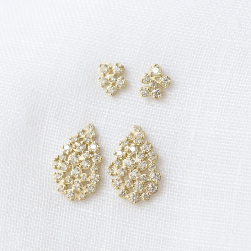 Pear Cluster Diamond Earrings - Anne Sportun Fine Jewellery Toronto, Canada, and U.S.