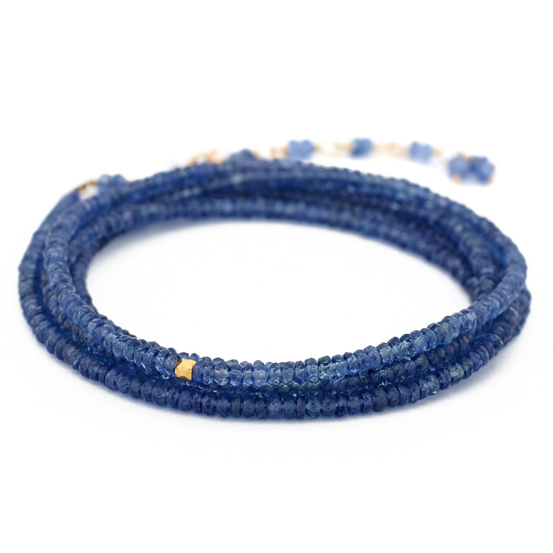 Gemstone Wrap Bracelet – 18K Yellow Gold - Anne Sportun Fine Jewellery