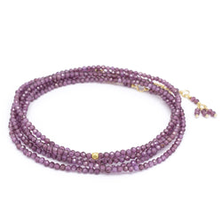Pink Garnet Wrap Bracelet - Necklace