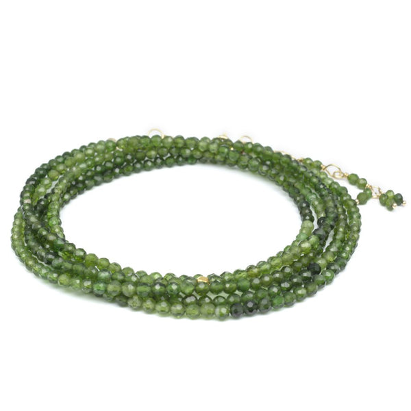 Green Tourmaline Wrap Bracelet - Necklace