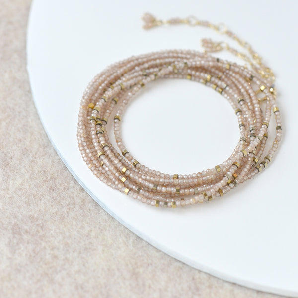 Brown Zircon Wrap Bracelet - Necklace