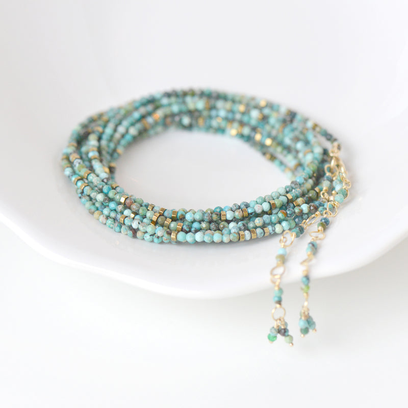Turquoise Wrap Bracelet - Necklace