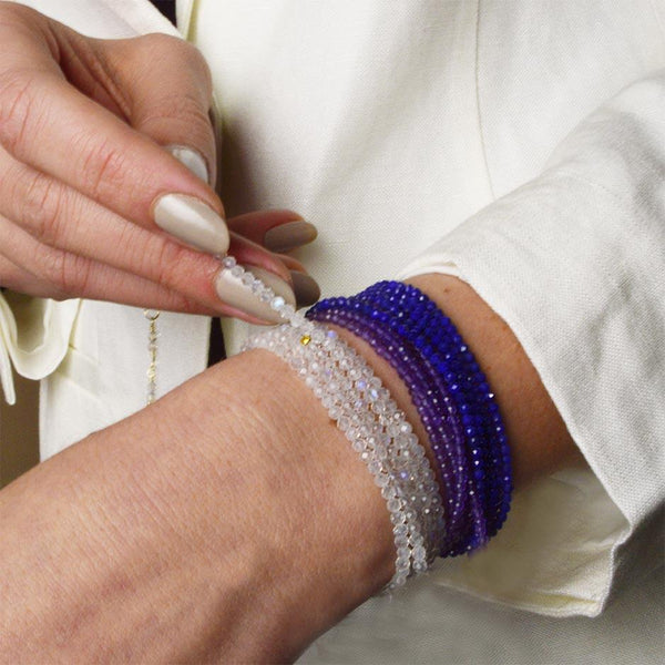 Amethyst Wrap Bracelet - Necklace