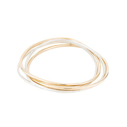 Tri-Color Interlocking Bangle - Anne Sportun Fine Jewellery