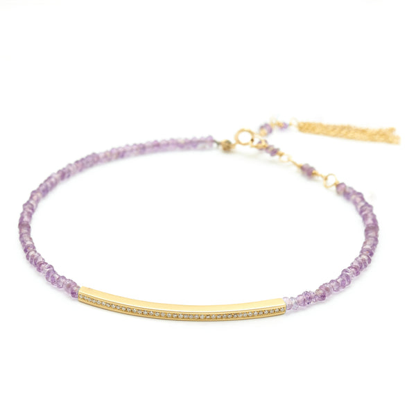 Gemstone Diamond Bar Bracelet - Anne Sportun Fine Jewellery