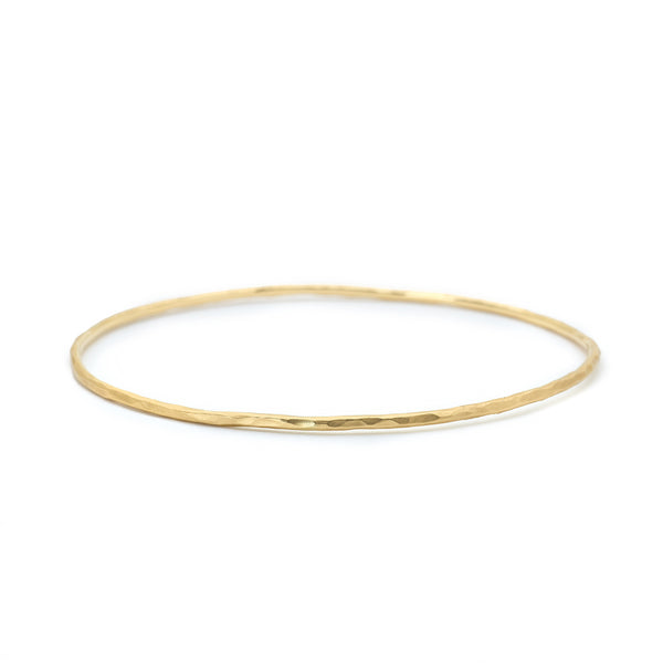 Gold Hammered Bangle - Anne Sportun Fine Jewellery