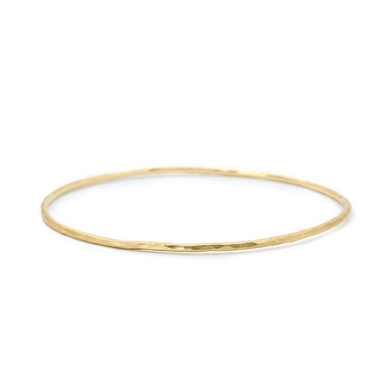 Gold Hammered Bangle - Anne Sportun Fine Jewellery Toronto, Canada, and U.S.