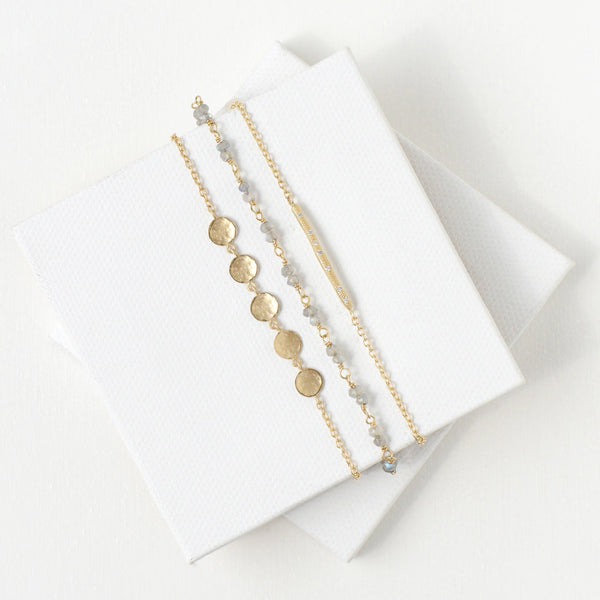 5 Hammered Disc Bracelet - Anne Sportun Fine Jewellery