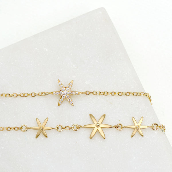 Diamond Pave Star Bracelet