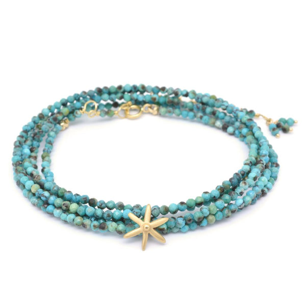 Star Bead Gemstone Wrap Bracelet - Anne Sportun Fine Jewellery
