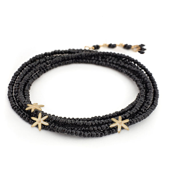 3 Star Bead Gemstone Wrap Bracelet - Anne Sportun Fine Jewellery