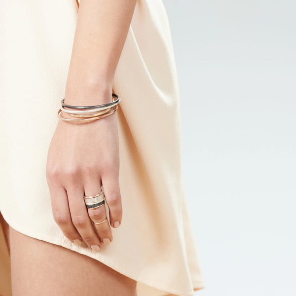 THICK GIBBOUS CUFF BRACELET