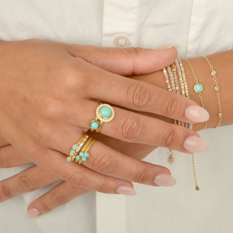 Scattered Gemstone Stacker Ring