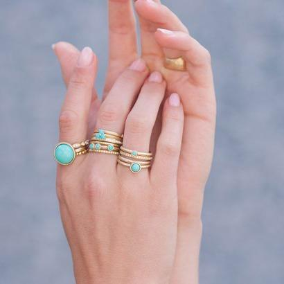 Turquoise Cabochon Ring - Anne Sportun Fine Jewellery