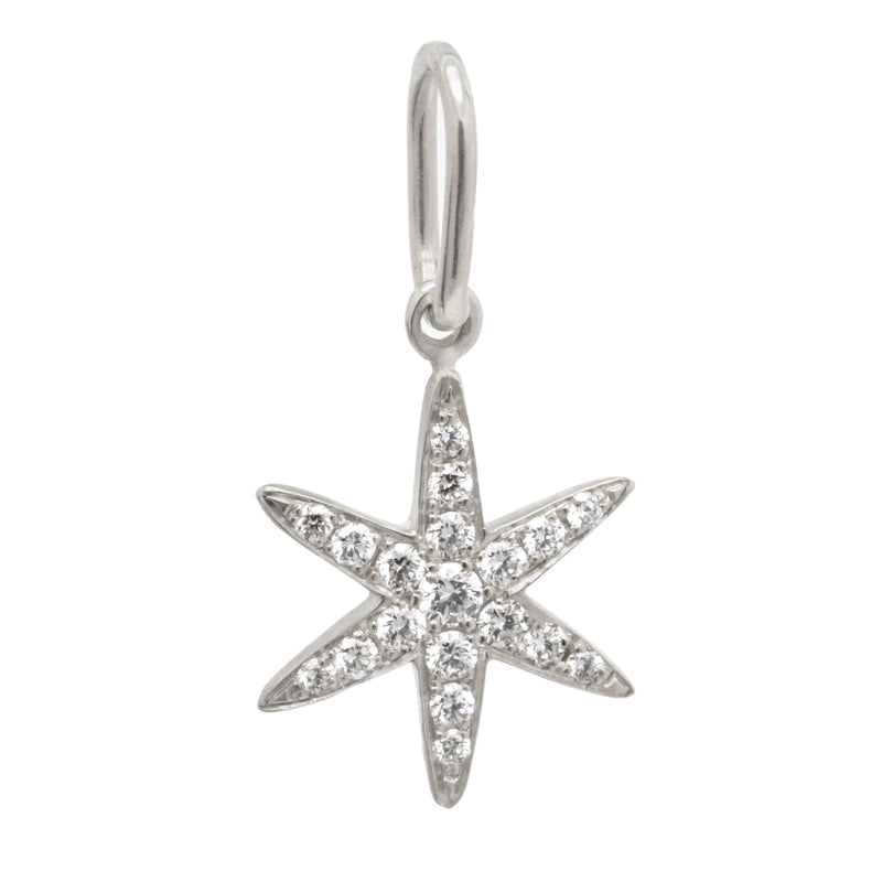 Diamond Pave Star Charm