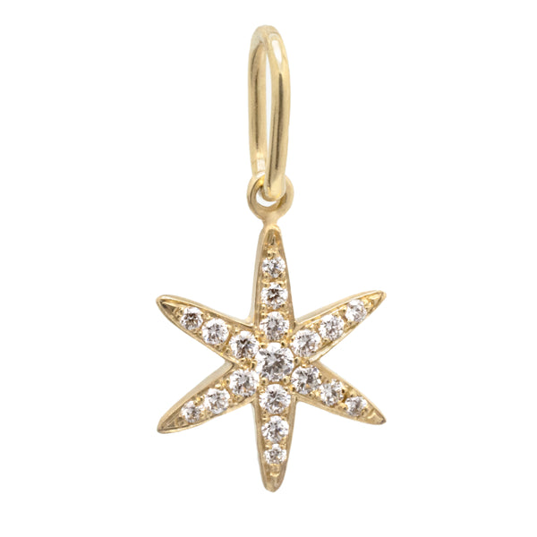 Diamond Pave Star Charm - Anne Sportun Fine Jewellery
