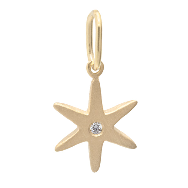 Diamond Center Star Charm - Anne Sportun Fine Jewellery