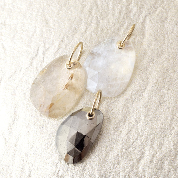 *Limited Edition* Faceted Pyrite Charm - Anne Sportun Fine Jewellery