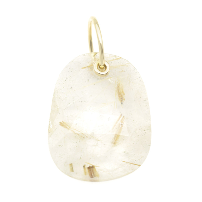 *Limited Edition* Faceted Rutilated Quartz Charm - Anne Sportun Fine Jewellery
