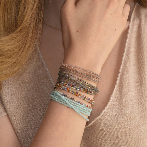 Amazonite Wrap Bracelet - Necklace