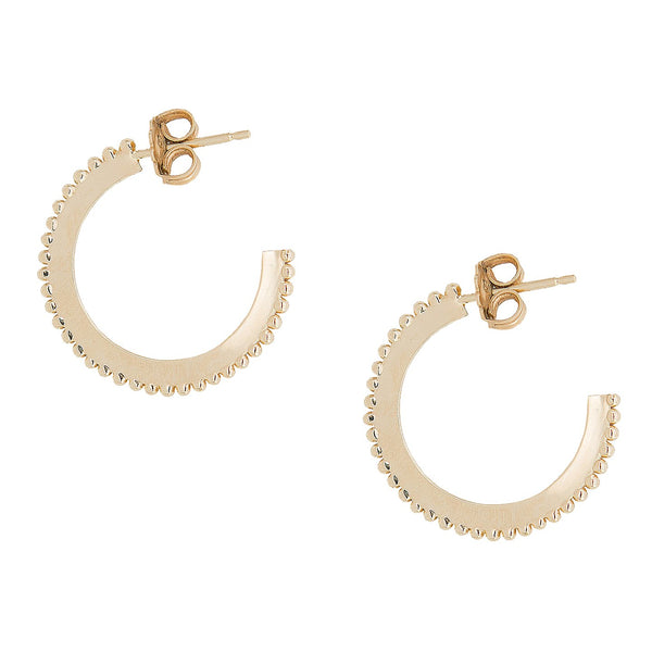 DOTTED HOOP EARRINGS  | LARGE | 10k GOLD