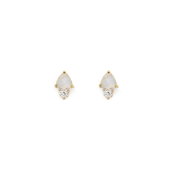 DUO STUDS | MOONSTONE - Anne Sportun Fine Jewellery