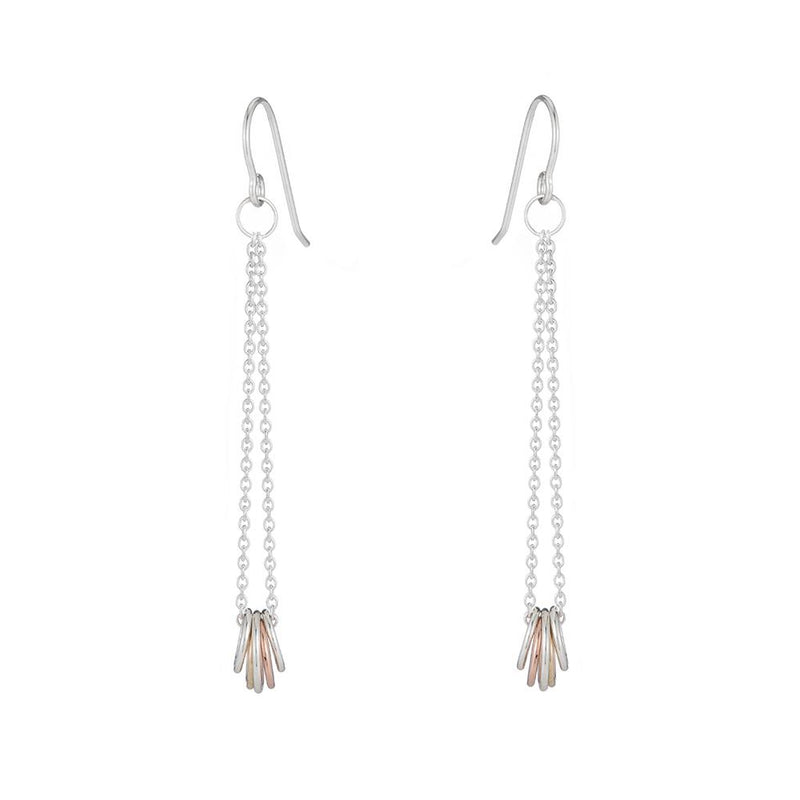GOLD & SILVER CINQ EARRINGS - Anne Sportun Fine Jewellery