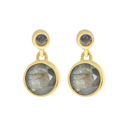 DROPLET EARRINGS - Labradorite