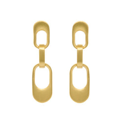 MANHATTAN CHAIN LINK MINI DROP EARRINGS