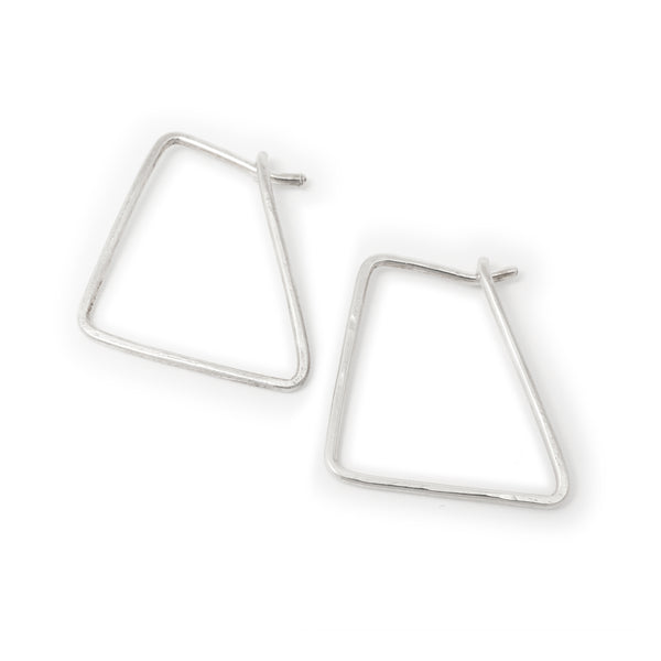 Silver Corners Hoop Earrings