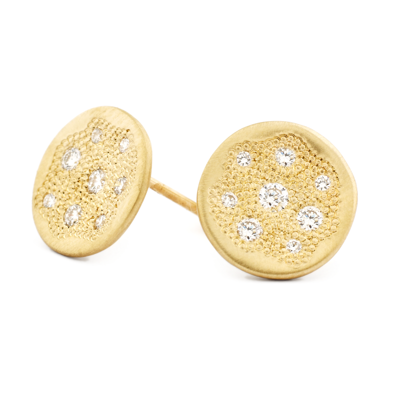 "Diamond ""Stardust"" Disc Earrings"