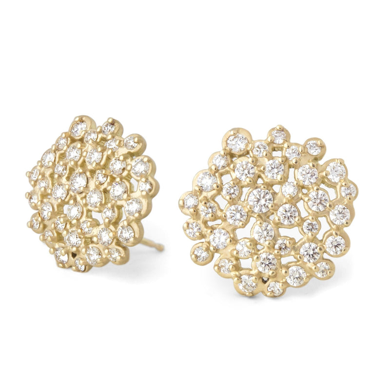 Master Diamond Cluster Festival Earrings - Anne Sportun Fine Jewellery