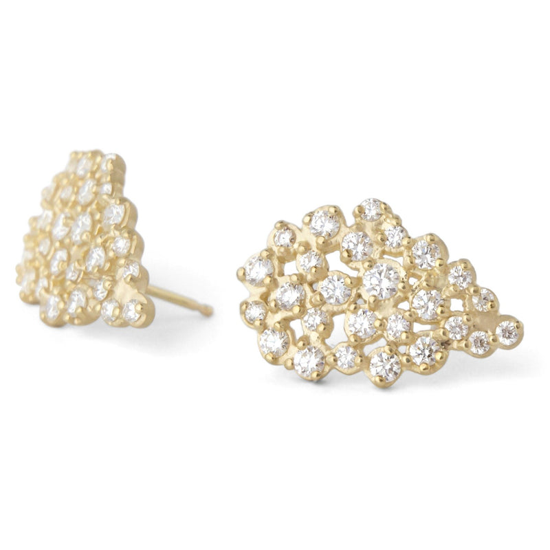 Pear Cluster Diamond Earrings - Anne Sportun Fine Jewellery