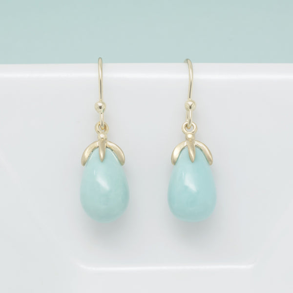 Teardrop Turquoise Earrings - Anne Sportun Fine Jewellery