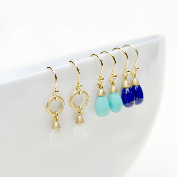 Teardrop Gemstone Drop Earrings - Anne Sportun Fine Jewellery