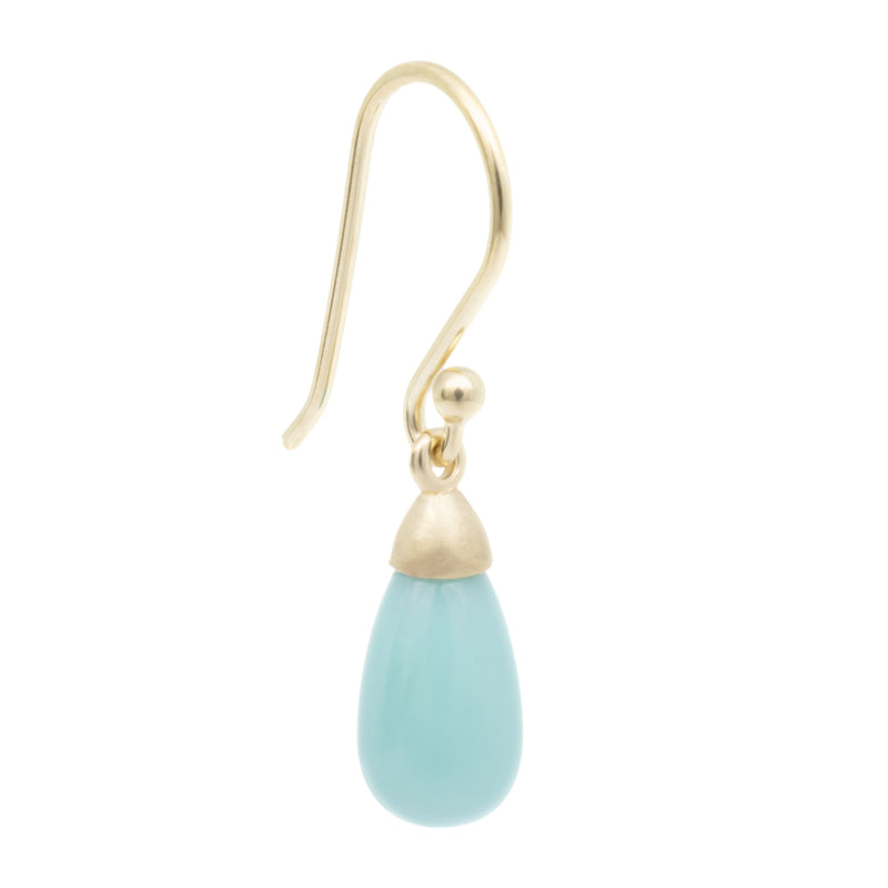 Teardrop Turquoise Drop Earrings - Anne Sportun Fine Jewellery