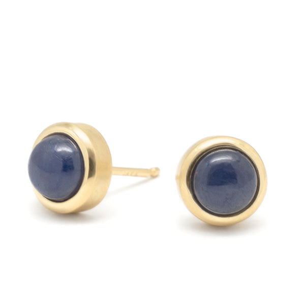 Gemstone Cup Stud Earrings - Anne Sportun Fine Jewellery