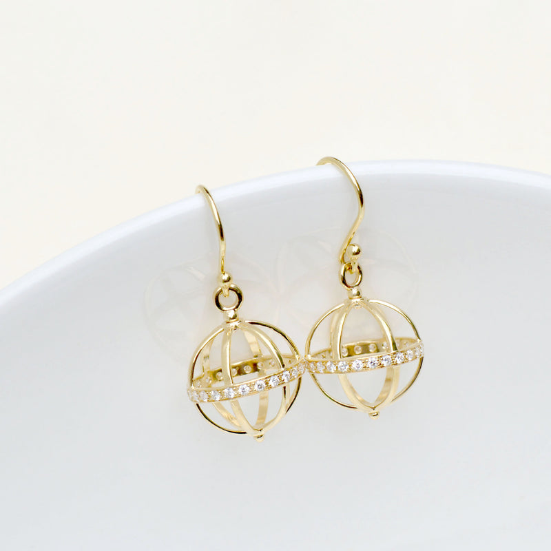 Medium Pave Cage Earring
