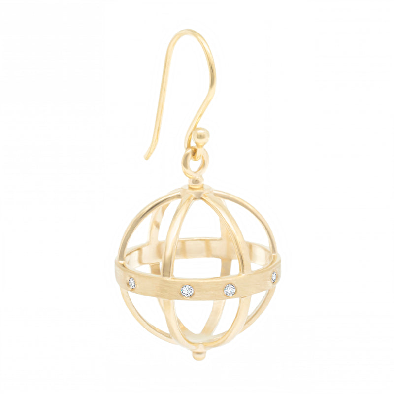 Large Pave Cage Earring - Anne Sportun Fine Jewellery