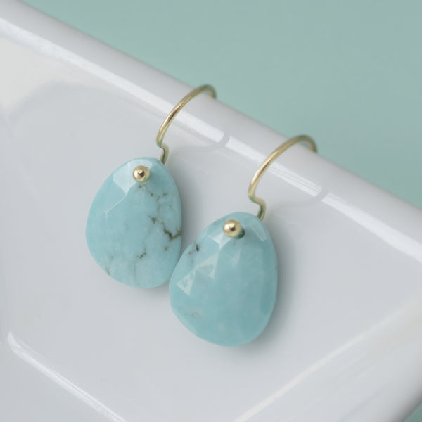 Turquoise Drop Earrings - Anne Sportun Fine Jewellery