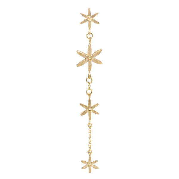 4 Star Dangle Earrings - Anne Sportun Fine Jewellery