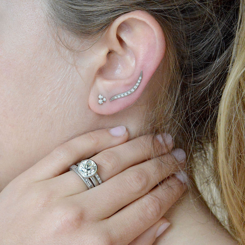 Cluster Trio Diamond Earrings