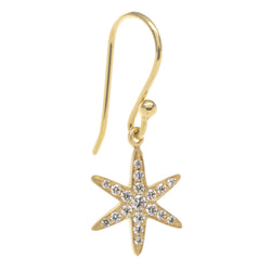 Diamond Pave Star Drop Earrings - Anne Sportun Fine Jewellery