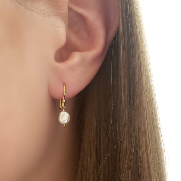 Freshwater Pearl Nugget Earrings